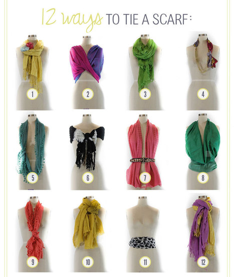 12 Ways to Tie A Scarf | One For The Ladies | Scoop.it
