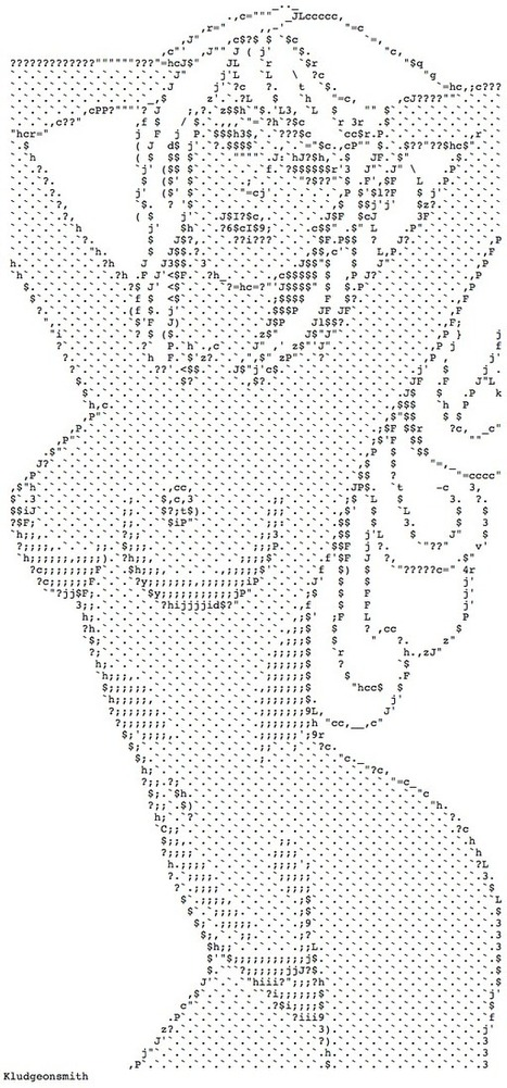 Nude Ascii Art By Kludgeonsmith (ASCIIPR0N) | Let's Get Sex Positive | Scoop.it