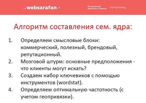Taisiya Kudashkina:  WEBSARAFAN:   алгоритм составления семантического ядра для любого сайта | World of #SEO, #SMM, #ContentMarketing, #DigitalMarketing | Scoop.it