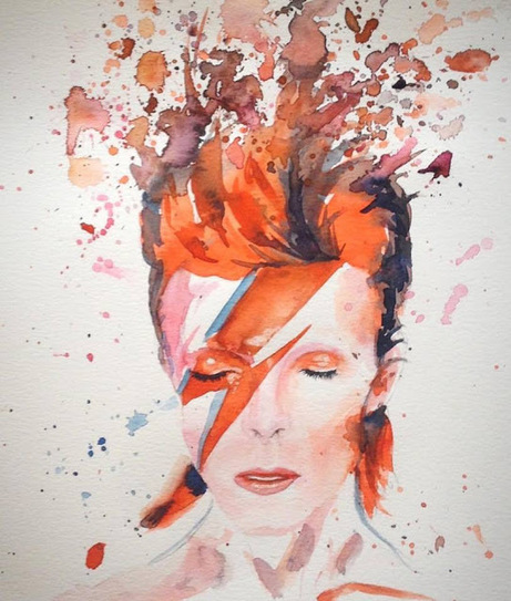 Zombie Logic: Outsider Poetry, Politics, Webcomics, Movies, Sports, Art, and Zombies: David Bowie Watercolor | Illustration and Art | Scoop.it