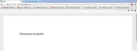 Abrir documentos .odt y .ods en chromium con OpenDocument Reader   Cultura Libre   Scoop.it