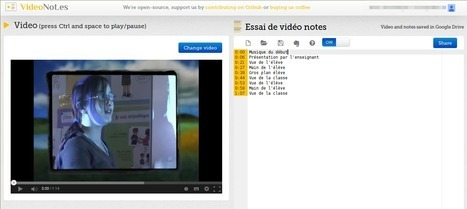 VideoNot.es : prendre des notes synchronisées avec une vidéo | TICE, Web 2.0, logiciels libres | Scoop.it