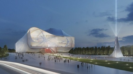 [Sejong, South Korea] Center for Performing Arts / Asymptote Architecture | The Architecture of the City | Scoop.it