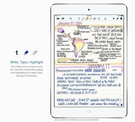 Notability, un carnet de notes complet sur iPad - iOS | Evernote, gestion de l'information numérique | Scoop.it