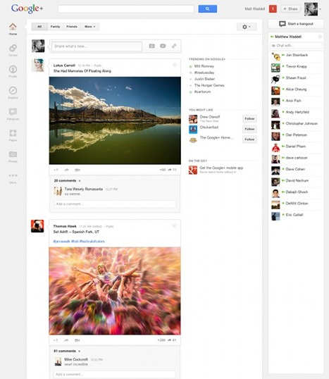 Google unveils redesign of Google+ and claims 170m users | The Wall Blog | HotelOnlineMarketing | Scoop.it