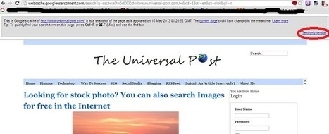Website unavailable? – Open it through cached web | In the age of Internet | Scoop.it