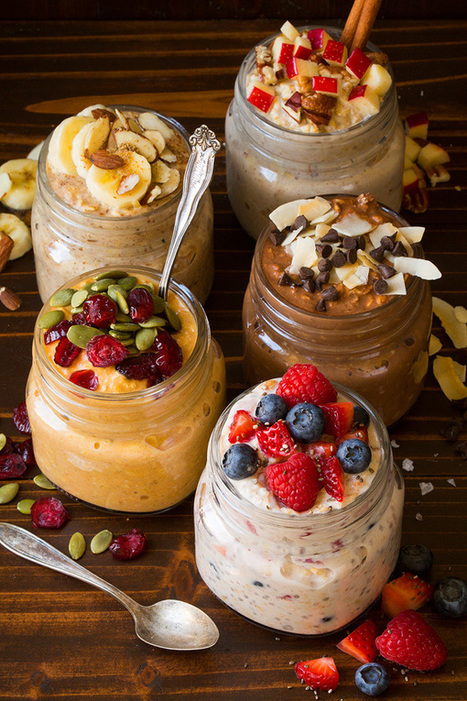 Overnight Oats Five Ways - Cooking Classy | Passion for Cooking | Scoop.it
