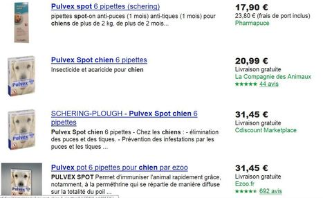 Pharmapuce propose le meilleur prix pour le pulvex spot on 6 pipettes chien sur google shopping   CaniCatNews-actualité   Scoop.it