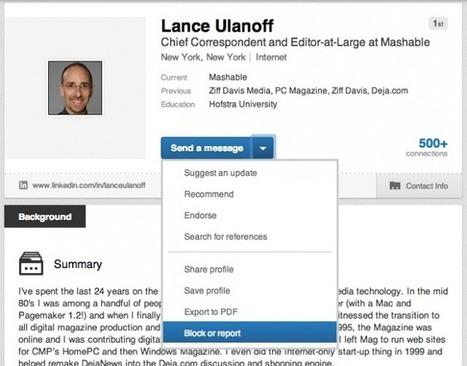 Linkedin autorise finalement le blocage des profils - #Arobasenet   Going social   Scoop.it
