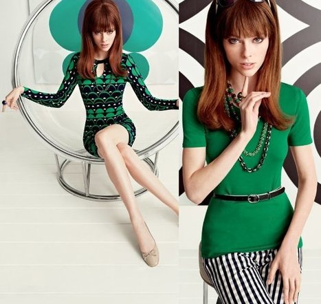 Coco Rocha For Banana Republic's Mad Men Collection | Women Fashion Accessories | Scoop.it