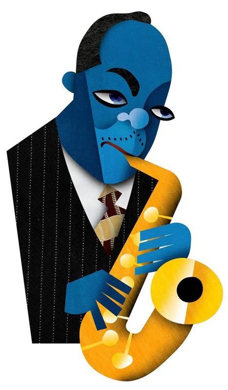 David Cowles Illustrations: Charlie Parker | Jazz Plus | Scoop.it