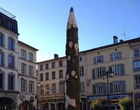 Epinal : La mairie recycle son sapin de Noël en crayon pour un hommage à Charlie Hebdo | Actu de l'Aménagement Urbain | Scoop.it