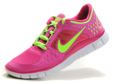 Buy Genuine Nike Free Run 3 Womens Running Shoes Pink Green | nike free pink | Scoop.it