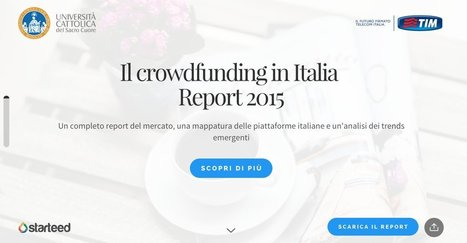 Il Crowdfunding in Italia - Report 2015 | Conetica | Scoop.it