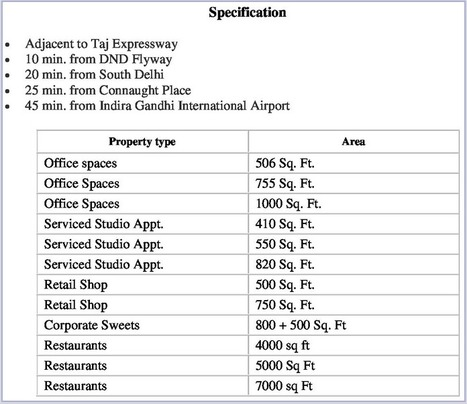 AMR Noida - Property Types and Specification | AMR Noida - AMR Group Noida - The Great Adventure Mall in Noida | Scoop.it
