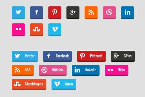 Create 3D Social Media Buttons with CSS3 - Flashuser | EEE | Scoop.it