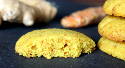 """Flourless Ginger Turmeric Cookies (""""definitely healthy for the family"""") 
