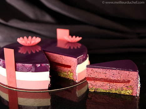 Entremet printanier de Pâques à la myrtille | Recipes from the world on Scoop! | Scoop.it