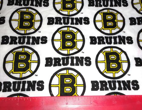 Boston Bruins cotton fabric scrap NHL | Boston bruins fabric | Scoop.it