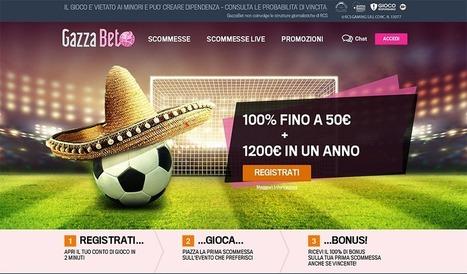 Bonus GazzaBet - 50€ subito + 1200 € per un anno | Pronostici di piazza | Scoop.it