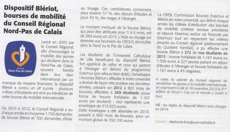 Les bourses de mobilité du Conseil régional à Lille | L'ISEN International | Scoop.it
