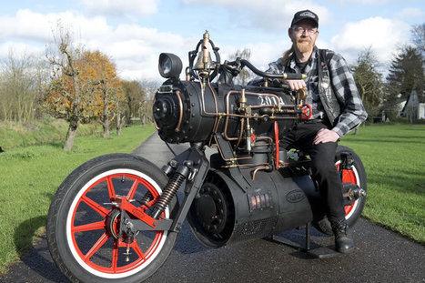 Mad Motorcycle Mechanic Builds Steam Powered Bike | My Dream Garage | Scoop.it
