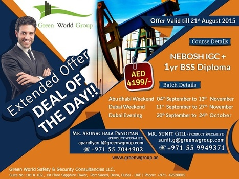 Extended Deal of the Day Offer in Dubai & Abu Dhabi | Nebosh courses | Scoop.it