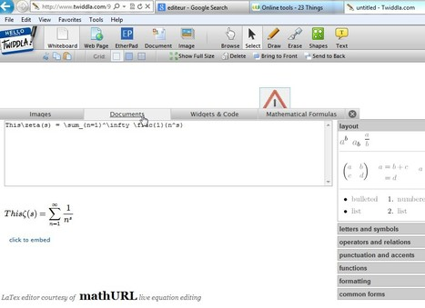 Collaborative WhiteBoard with maths symbols, images and lots more | Add Maths | Scoop.it