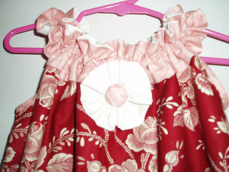 Cute Handmade Girls Sundress  with pockets and embellishments in Dark and Pink Red SIZE 4 | Cool Stuff | Scoop.it