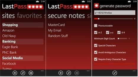 LastPass – Password manager for Nokia Lumia smartphones ... | LastPass | Scoop.it