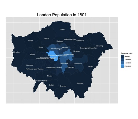 London Population Over The Years | Data Visualization Examples | Scoop.it