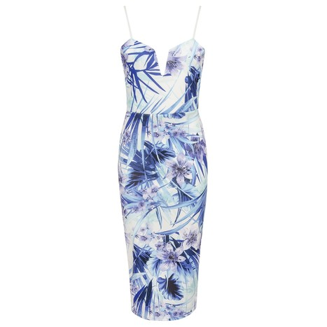 Botanic Floral Print Plunge Cami Dress | Celebrity Style | Scoop.it