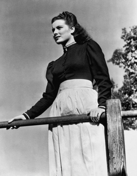 "Maureen O'Hara en ""Que verde era mi valle"", 1941 