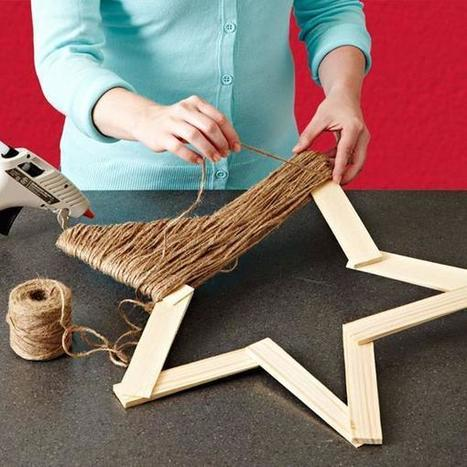Twine Star Decoration | Craftspo | Scoop.it