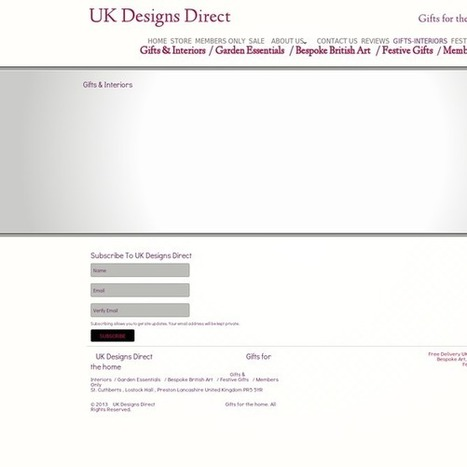 Purchase Unique Gifts & Interiors with UK Designs Direct | UK Designs Direct | Scoop.it