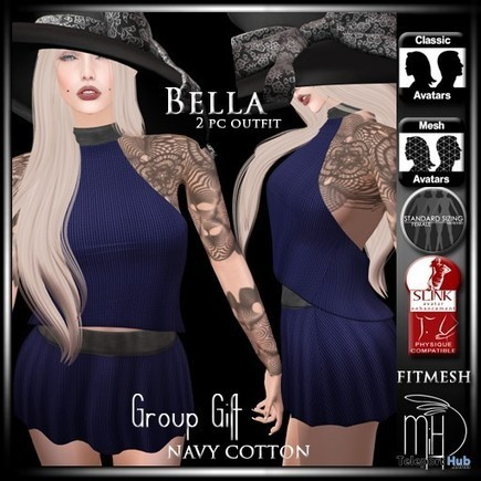 Bella 2 Pieces Outfit Group Gift by Mutiny in Heaven | Teleport Hub - Second Life Freebies | Second Life Freebies | Scoop.it