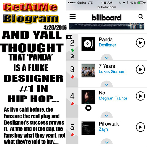 GetAtMe- And yall thought PANDA wasn't the real... #ItsAboutTheMusic | GetAtMe | Scoop.it