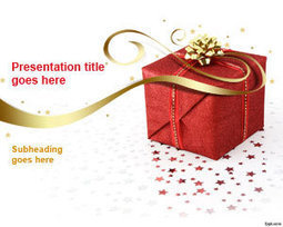 Christmas Gift PowerPoint Template | Free Powerpoint Templates | PowerPoint Presentation Library | Scoop.it