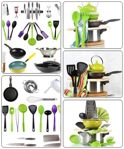 Stacked cooking equipment isolated on white - Stock Photo   Creative photography   Scoop.it