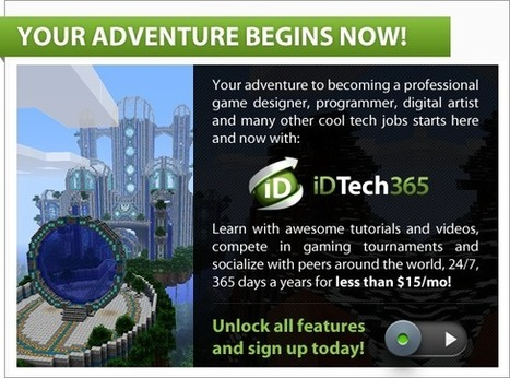 Tutorials for kids & teens: make your own games, apps, programs websites & more! | iD Tech 365 | 21st Century Education | Scoop.it
