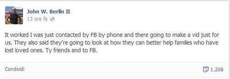 Potrà vedere il video di #lookback del figlio morto, Facebook accoglie la richiesta di un padre | Allicansee | Scoop.it