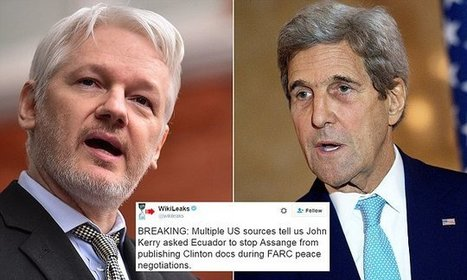 Wikileaks accuses John Kerry of having Julian Assange's internet cut | Business Video Directory | Scoop.it