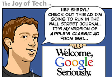 Zuckerberg vs. Google [COMIC] | SocialNetworks | Scoop.it