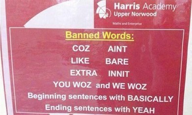 London school bans pupils from using 'innit', 'like', and 'bare' | Year 11 RCHK | Scoop.it