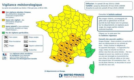 Vigilance orange pour orages - Météo-France   Vallée d'Aure - Pyrénées   Scoop.it