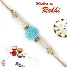 Turquoise Coral and Pearl Beads Rakhi   Rakhi Gifts to India, USA, UK, Canada, Australia   Scoop.it