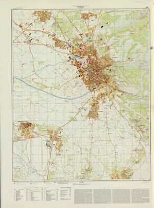 Mapas inéditos de 8 ciudades andaluzas realizados durante la Guerra Fría por el servicio cartográfico de la Unión Soviética