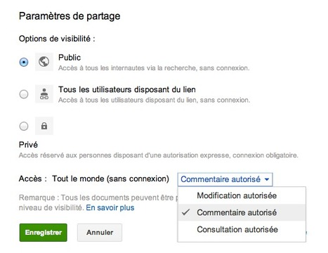 Google Documents : partagez vos documents en autorisant uniquement les commentaires | Time to Learn | Scoop.it