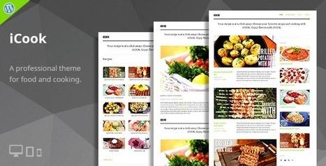 iCook - Food/Recipe WordPress Theme | TeslaThemes | Clean WordPress Themes | Scoop.it