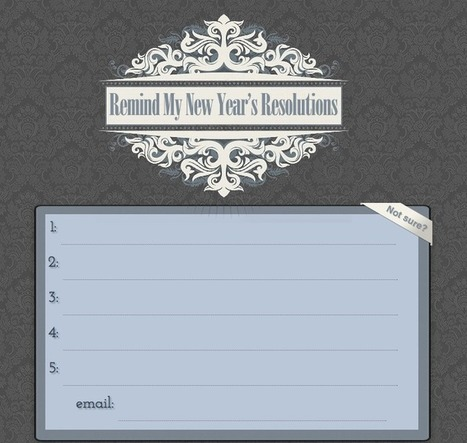 Remind My New Year's Resolutions | KgTechnology | Scoop.it